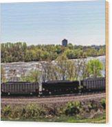 Coal Train Wood Print