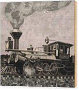Coal Train To Kalamazoo Wood Print by Kerri Ertman