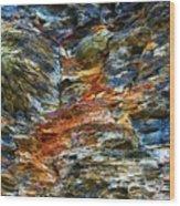 Coast - Color Of Rock Wood Print