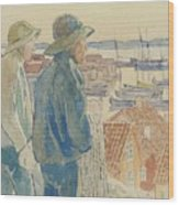 Coast Fishermen Wood Print
