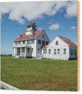 Coast Guard Building, Cape Cod Wood Print
