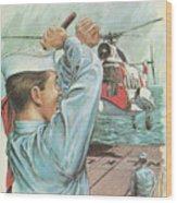 Coast Guard Career Wood Print