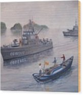 Coast Guard Cutters Pt Hudson And Pt Grace In Vietnam Wood Print