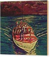 Coast Guard Before The Storm Wood Print