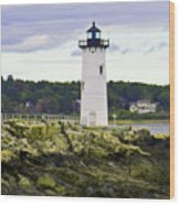 Coast Guard Light Wood Print