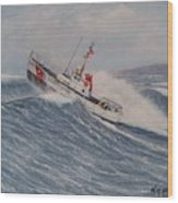 Coast Guard Motor Lifeboat Intrepid Version 2 Wood Print
