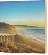 Coast Highway Del Mar Wood Print