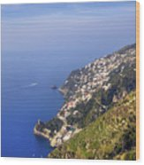 Coast Of Amalfi Wood Print