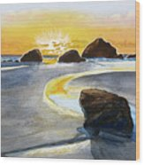 Coast Of Brandon, Oregon Wood Print
