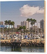 Coast Of Long Beach #3 Wood Print