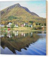 Coast Of Norway Reflections Wood Print