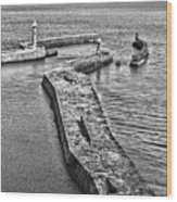 Coast - Whitby Harbour Wood Print