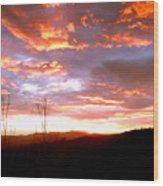 Costa Rican Mountain Valley Sunset Wood Print