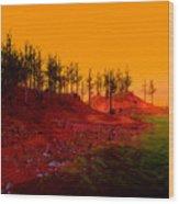 Coastal Burn Taj Wood Print