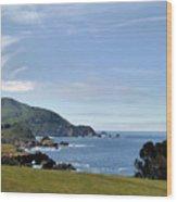 Coastal California Wood Print