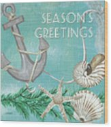 Coastal Christmas 4 Wood Print