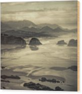 Coastal Dawn Wood Print