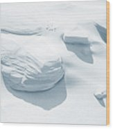 Coastal Dunes. Series Ethereal Blue Wood Print