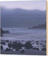 Coastal Fog - Big Sur Wood Print by Stephen  Vecchiotti