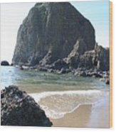 Coastal Landscape - Cannon Beach Afternoon - Scenic Lanscape Wood Print