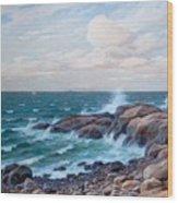 Coastal Landscape Wood Print