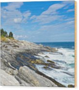 Coastal Maine Wood Print