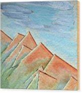 Coastal Range Wood Print