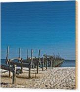 Coastal Remains Wood Print