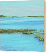 Coastal River Wood Print