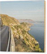 Coastal Road Near Dubrovnik In Croatia Wood Print