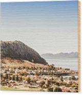 Coastal Tasmanian Town Wood Print