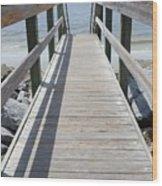 Coastal Walkway Wood Print