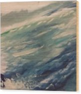 Coastal Waters Wood Print by Gregory Dallum
