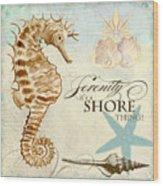 Coastal Waterways - Seahorse Serenity Wood Print