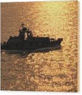 Coastguard Vessel Wood Print