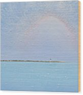 Coasting Into Lavender Wood Print