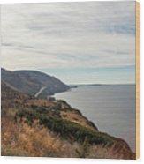 Coastline At Cape Breton Highlands National Park, Nova Scotia, C Wood Print