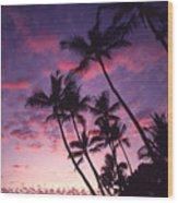 Coastline Palms Wood Print