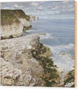 Coastline Viewed From Thornwick Bay Flamborough Wood Print