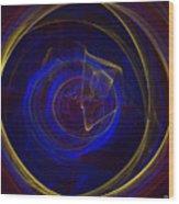 Cobalt Blue Wood Print