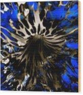 Cobalt Blue Wormhole Wood Print