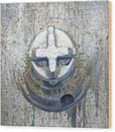 Cobalt Cat Wood Print