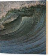 Cobalt Wave Wood Print