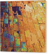Cobble Stones In Color Wood Print