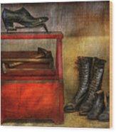 Cobbler - Life Of The Cobbler Wood Print