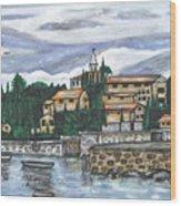 Cobblestone Cove Wood Print