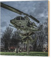 Cobra Helicopter Bristol Va Wood Print