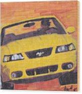 Cobra Mustang Wood Print