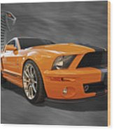 Cobra Power - Shelby Gt500 Mustang Wood Print