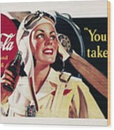 Coca-cola Ad, 1941 Wood Print by Granger